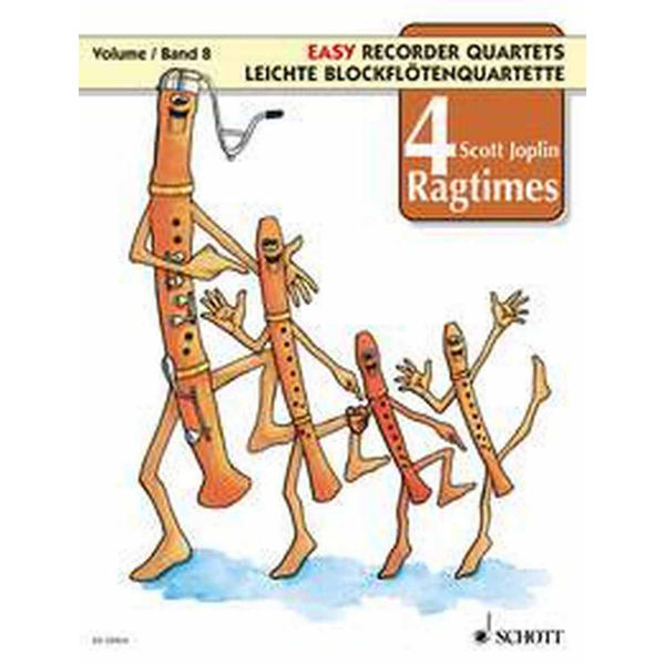 4 Scott Joplin Ragtimes, Easy Recorder Quartets, Vol.8