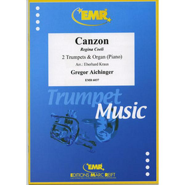 Canzon Regina Coeli for Two Trumpets & Organ (Piano) - Aichinger