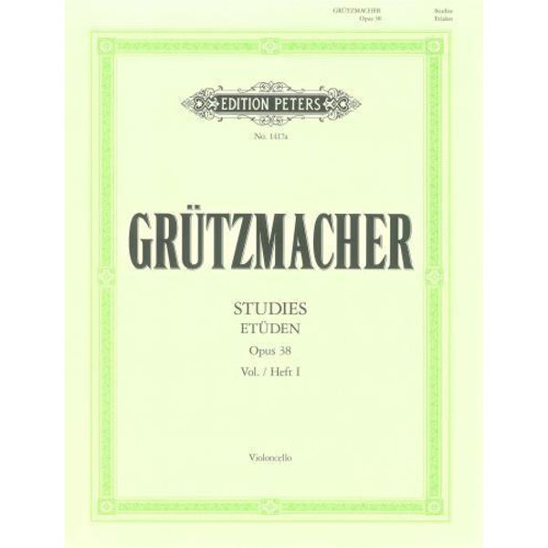 Grutzmacher - 24 etüden violoncello opus 38 vol 1