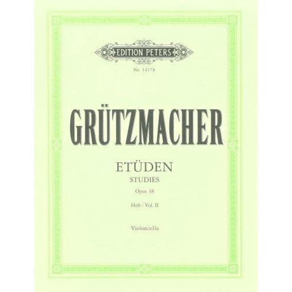 Grutzmacher - 24 etüden violoncello opus 38 vol 2
