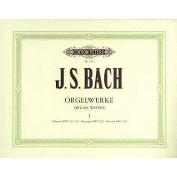 Complete Organ Works in 9 volumes, Vol.1, Johann Sebastian Bach