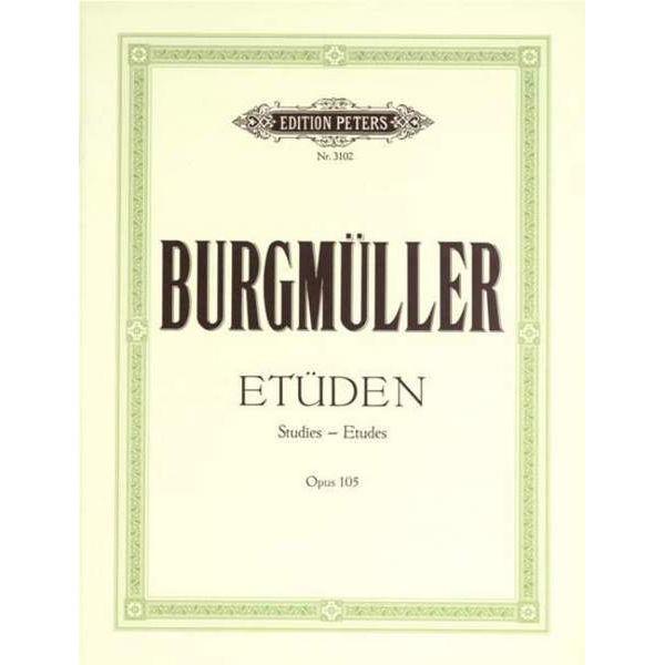 12 Brilliant & Melodious Studies Op.105, Friedrich Burgmuller - Piano Solo