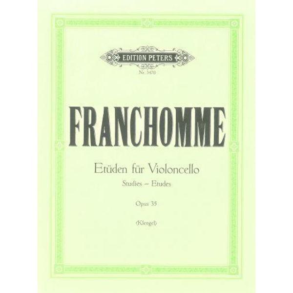 Franhomme - Etüden für violoncello opus 35