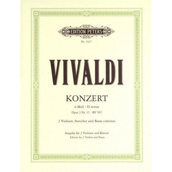 Concerto Grosso in D minor Op.3 No. 11. Vivaldi. 2 fioliner og Piano