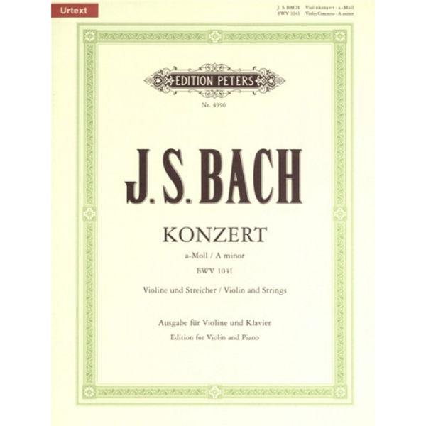 Concerto No. 1 in A minor BWV 1041. Bach. Violin & Piano