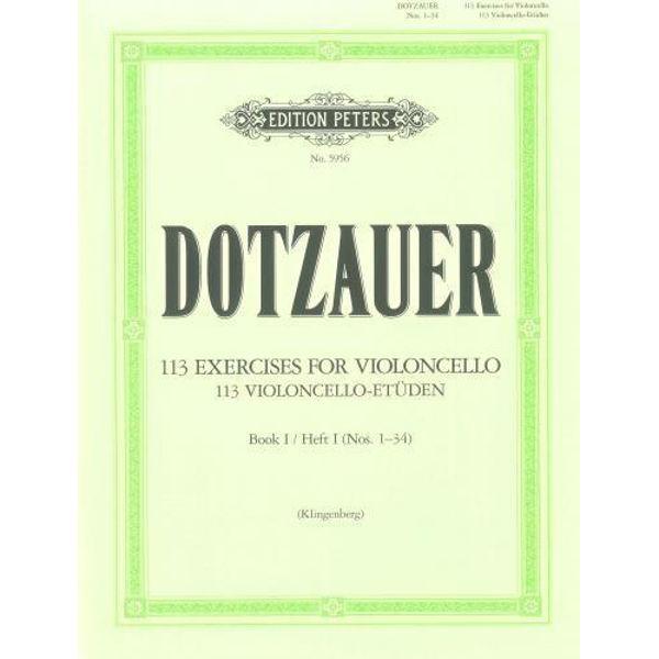 Dotzauer 113 Violoncello-Etüden hft 1 no 1-34