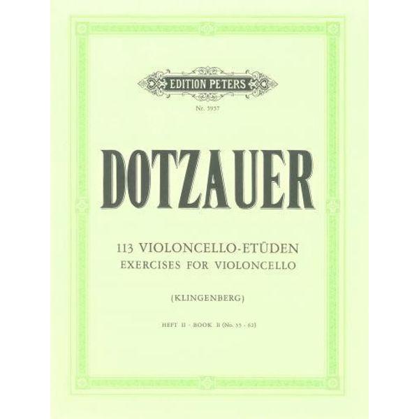 Dotzauer 113 Violoncello-Etüden hft 2 no 36-62