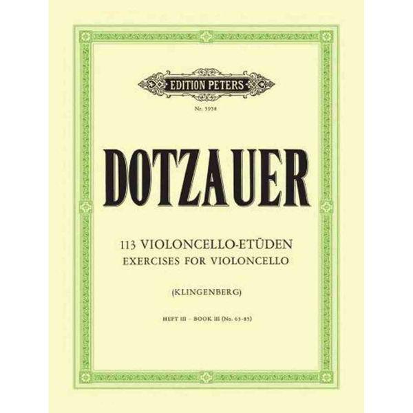 Dotzauer 113 Violoncello-Etüden hft 3 no 63 - 85