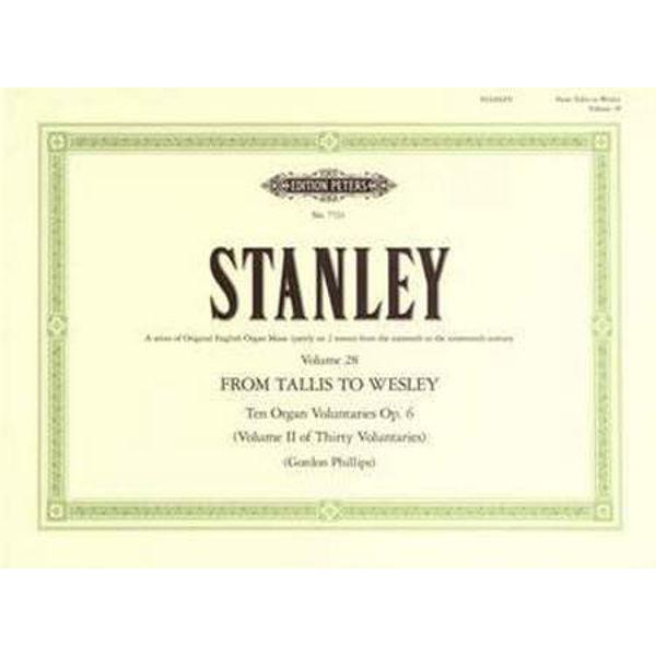 10 Voluntaries Op.6, John Stanley - Organ Solo