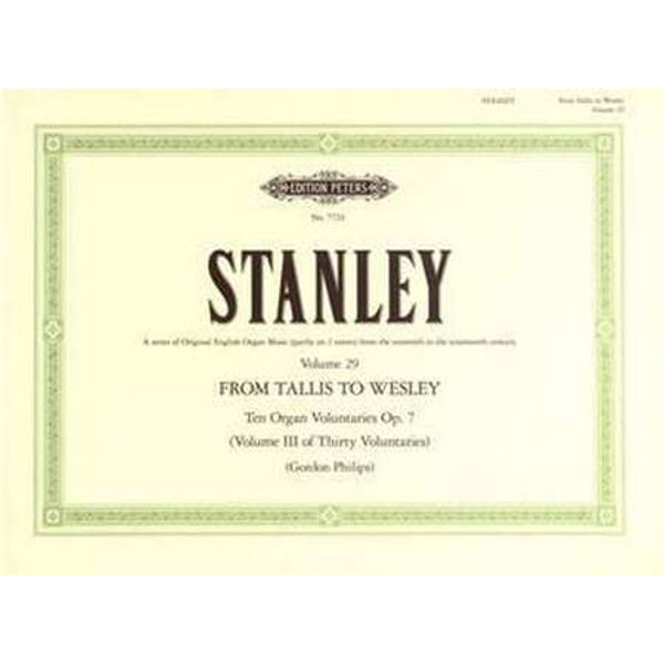 10 Voluntaries Op.7, John Stanley - Organ Solo