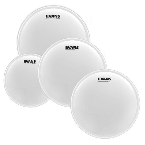 Trommeskinnpakke Evans UV1, EPP-UV1-F, 10,12,14 +14, Fusion, Coated