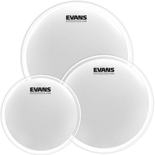 Trommeskinnpakke Evans UV2, ETP-UV2-F, 10,12,14, Fusion, Coated