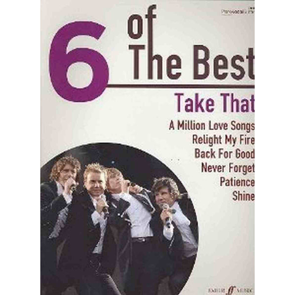 6 of The Best - Take That - Piano/Vokal/Gitar