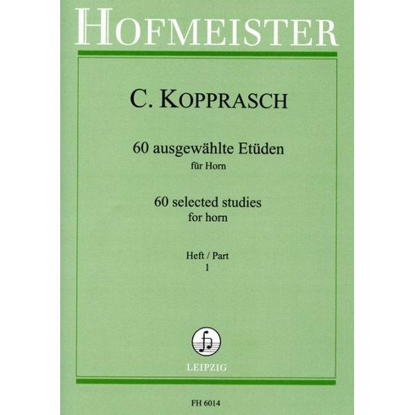 Kopprasch 60 ausgewählte Etüden für Horn vol 1
