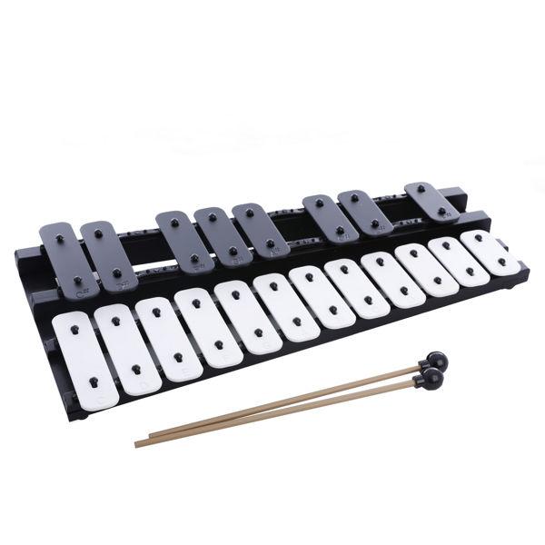 Klokkespill Hau-Sheng HGL-20, Kromatisk, C6-G7 (C64-G83) 20 Black & White