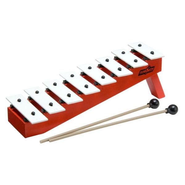 Klokkespill Hau-Sheng HGS-8, Sopran Diatonisk C3-C4, 8 Staver, Step Ladder