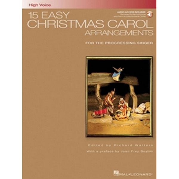 15 Easy Christmas Carol Arrangements (High Voice), Richard Walters