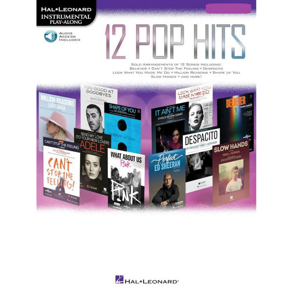 12 Pop Hits  - Tenor Saxophone (Book/Online Audio) Hal Leonard Instrumental Play-Along