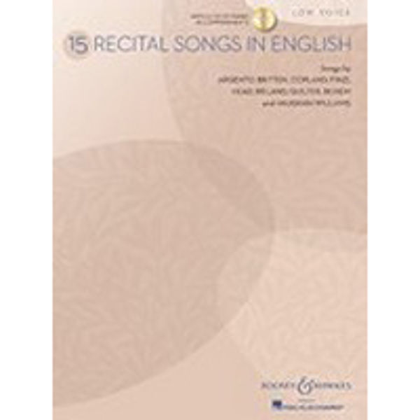 15 Recital Songs in English - Low Voice
