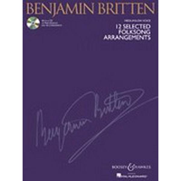 12 Selected Folksongs Arrangements - B.Britten - Medium/Low Voice