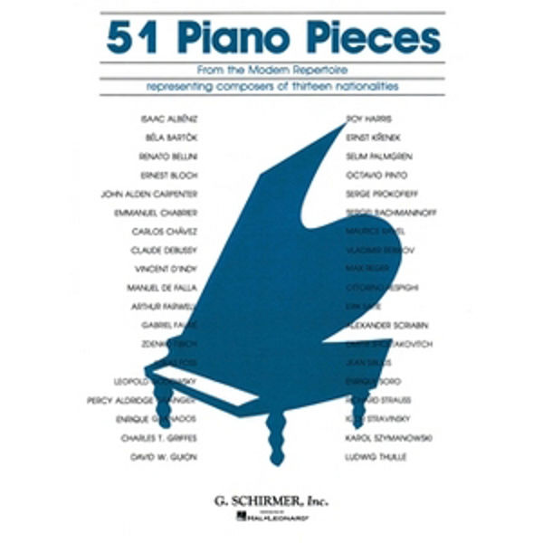 51 Pieces from the Modern Repertoire, Piano