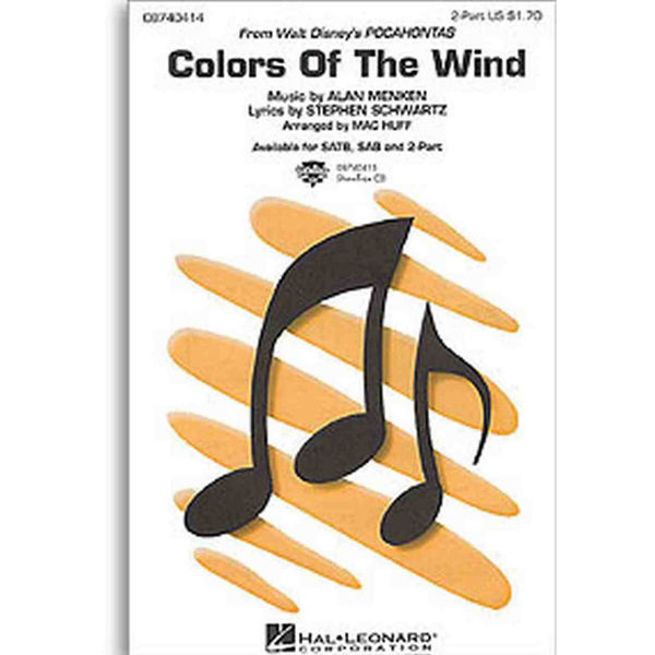 Alan Menken: Colors Of The Wind (2-Part Voice)