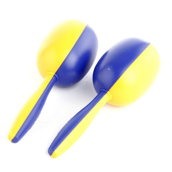 Maracas Hau-Sheng HM-301, 6 Yellow/Blue, 6