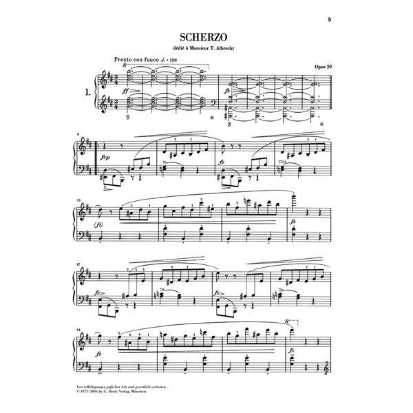 Scherzos, Frederic Chopin - Piano solo
