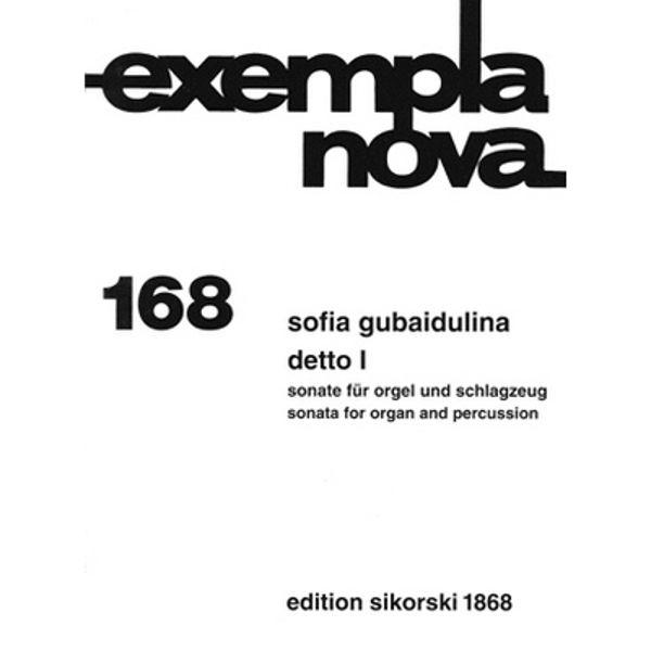Sonata for organ and percussion, Sofia Gubaidulina Detto - Organ