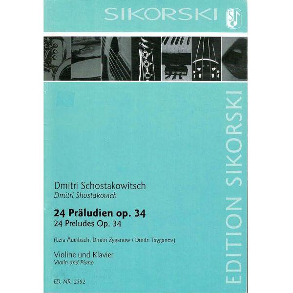 24 Präludien Op. 34, for Violin and Piano, Shostakovich