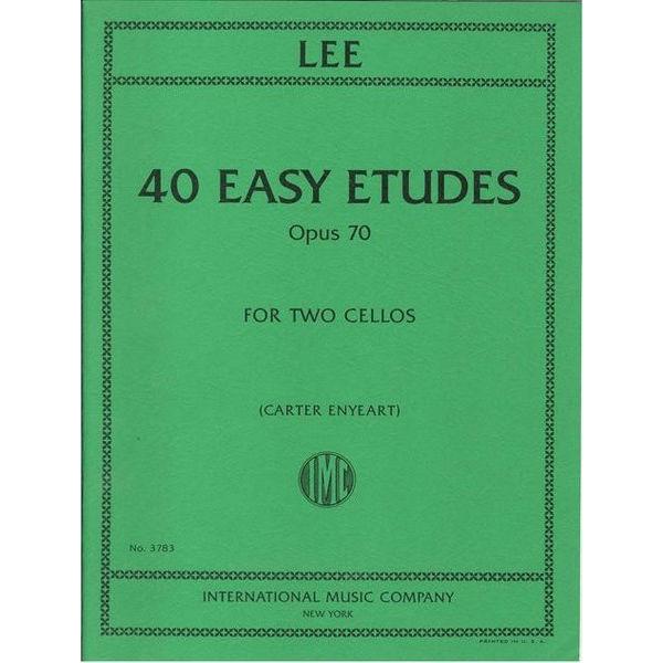 40 Easy Studies op 70 Sebastian Lee. 2 Cellos