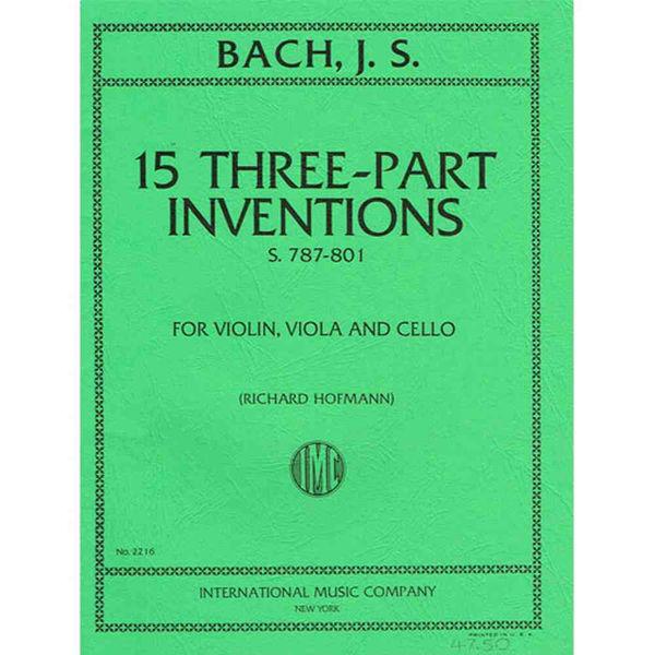 15 Three-Part Inventions, Bach - Violin/Viola/Cello