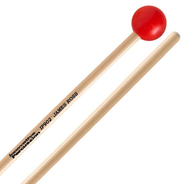 Xylofonkøller Innovative Percussion IP902, James Ross, Medium Xylophone/ Glockenspiel, Red