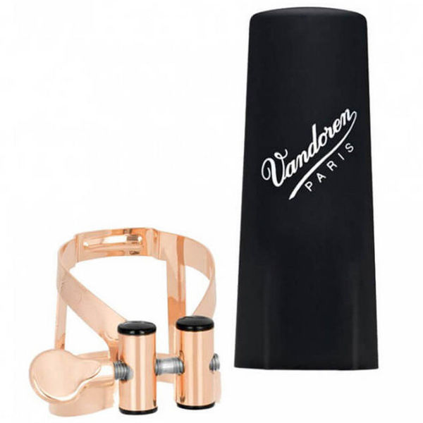 Ligature Sopransaksofon Vandoren M/O Rose Gold inkl Rørhette Plast
