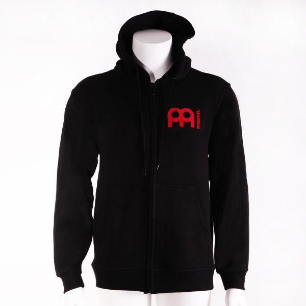 Genser Meinl M48L, Hood Shirt w/Zipper, Black, Large