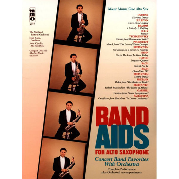 Band Aids for Alto Saxophone - Concert Band Favorites With Orchestra