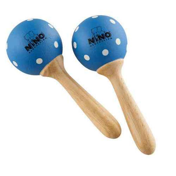 Maracas Nino 7PD-B, Wood, Medium, Blue/Sopp