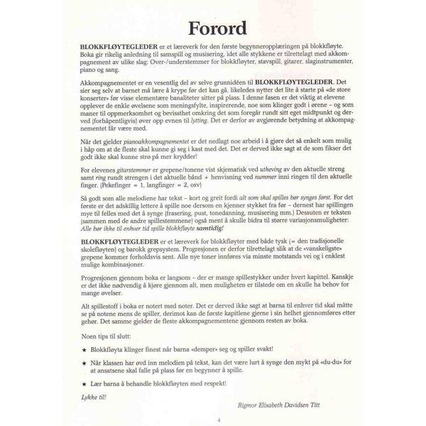 Blokkfløytegleder 1, Rigmor E. Davidsen Titt