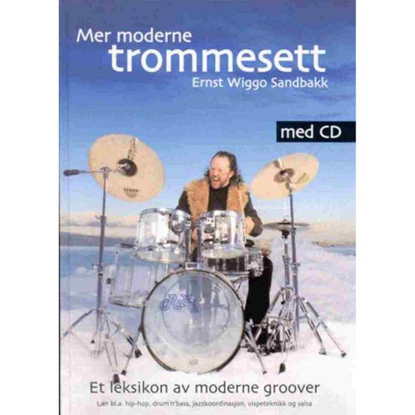 Mer Moderne Trommesett, Ernst Wiggo Sandbakk - Bok, Cd Trommer