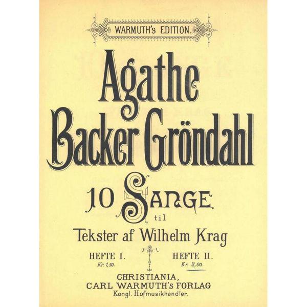 10 Sange  Op.29 - Hefte 2, Agathe Backer Grøndahl - Sang, Piano