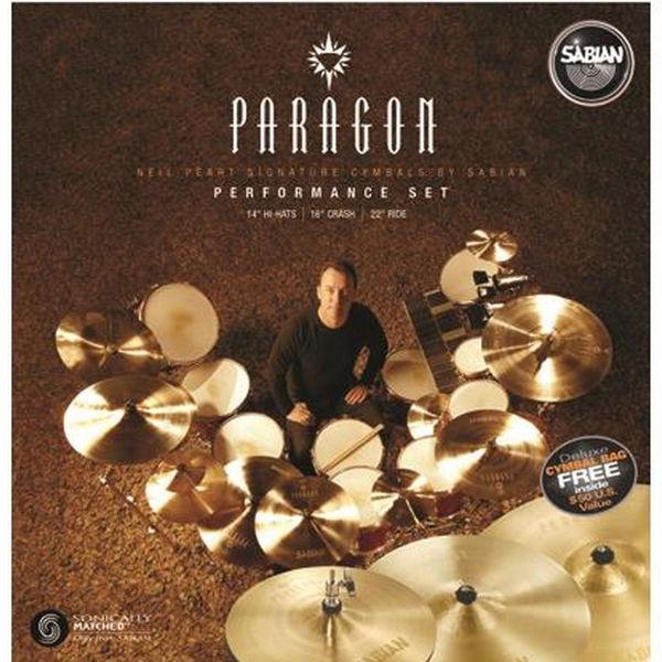 Cymbalpakke Sabian Paragon NP5005B, 14-16-22, Performance Set, Brilliant, Neil Pearl
