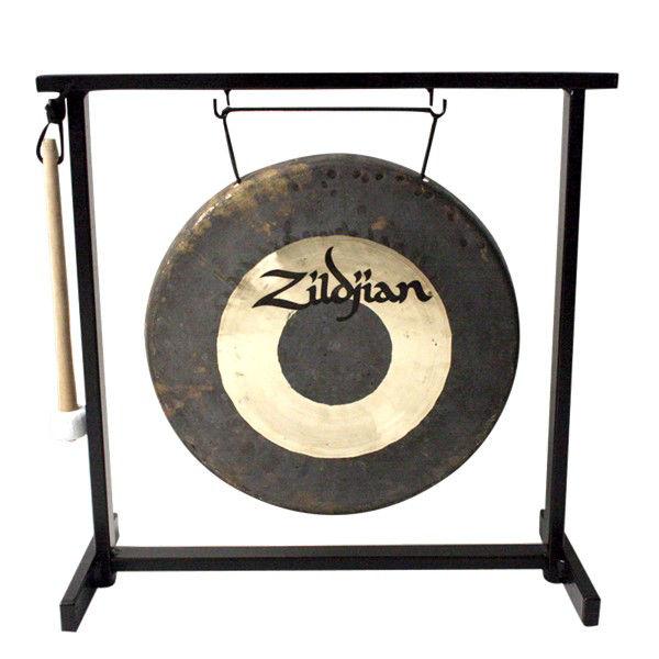 Gong Zildjian P0565, Traditional Dinner Gong m/Stativ, 12