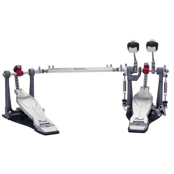 Stortrommepedal Pearl Elimintaor P-1032R, Solo Red, Double Pedal w/B-250QB