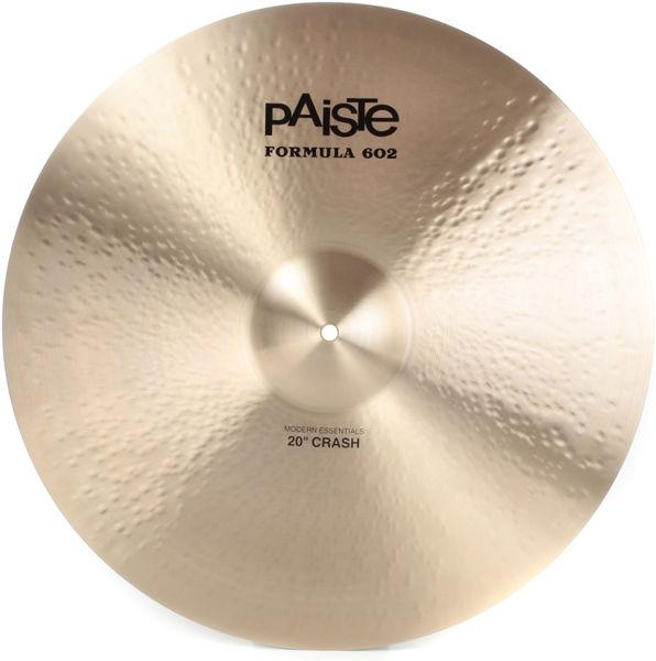 Cymbal Paiste Formula 602 Modern Essentials Crash, Crash 20, Vinnie Colaiuta