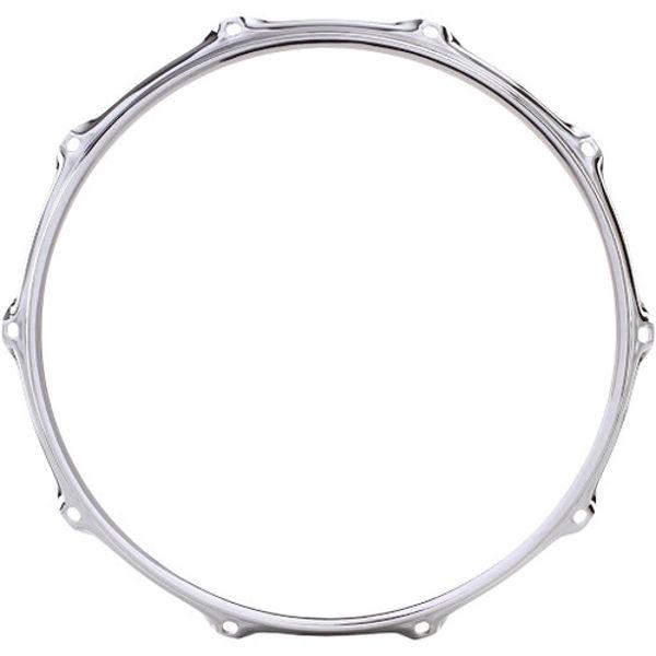 Strammering Ludwig L21362R, 14 -10 Hole Triple Flange Batter Hoop, Chrome Plated, USA Metall Skarptrommer
