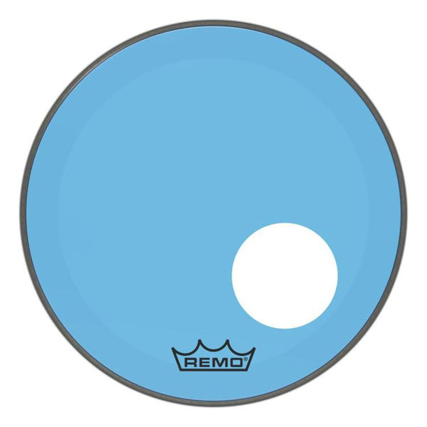 Stortrommeskinn Remo Powerstroke 3 Colortone, P3-1318-CT-BUOH, 18, Blue, m/Offset Hull