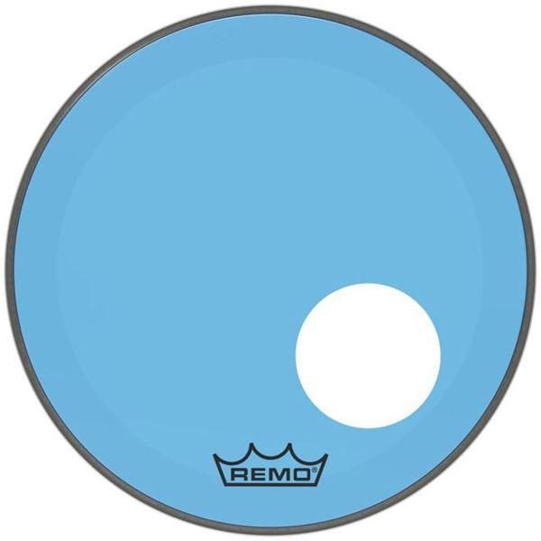 Stortrommeskinn Remo Powerstroke 3 Colortone, P3-1322-CT-BUOH, 22, Blue, m/Offset Hull