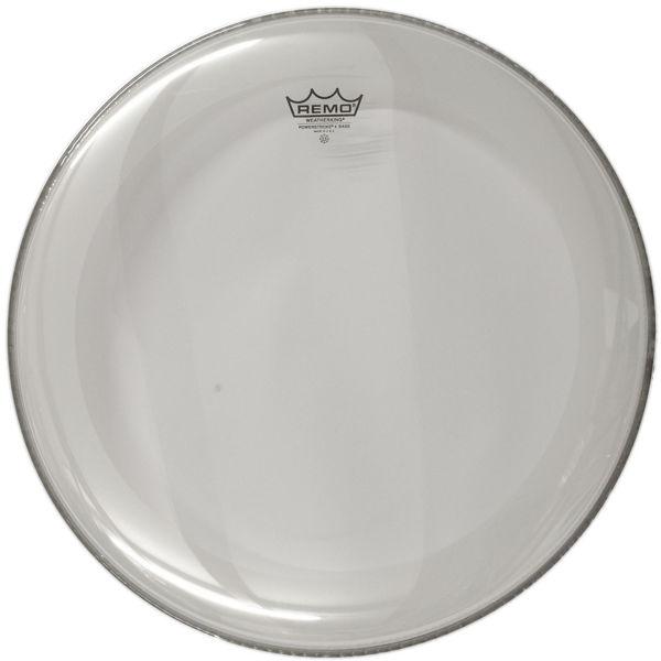 Stortrommeskinn Remo Powerstroke 4 Clear, P4-1324-C2, 24 m/Falam Slam Patch