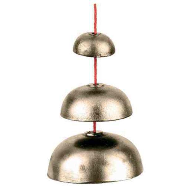 Bronze Bell Ufip PE3BELL, Set of 3 Bronze Bell On Rope