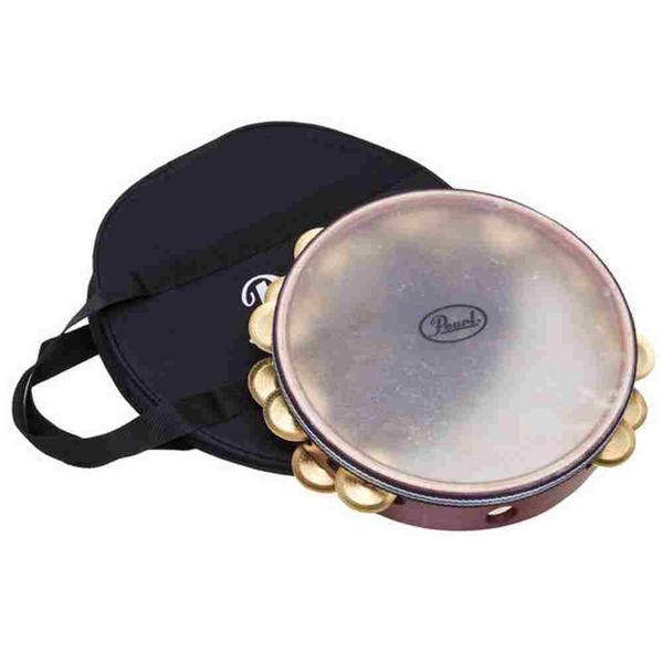 Tamburin Pearl PETM-1017, Symphonic, Brass Jingles & Bag, Calf Head